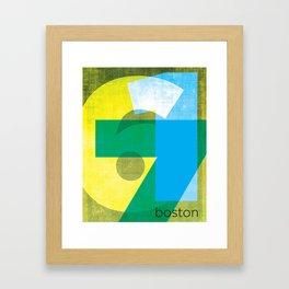 617 Framed Art Print