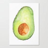 avocado Canvas Prints featuring Avocado by Bridget Davidson