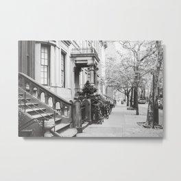 Brooklyn Stoop Metal Print