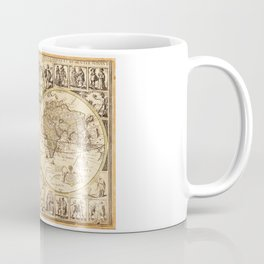 Novvelle et exacte description dv globe terrestre (World Map circa 1645) Coffee Mug