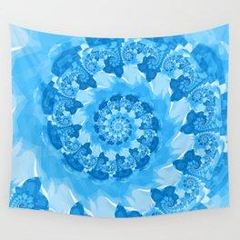 Endless Ocean Blue Spiral Wall Tapestry
