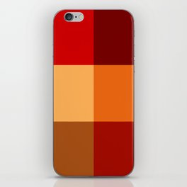 BLOCKS - RED TONES - 2 iPhone Skin