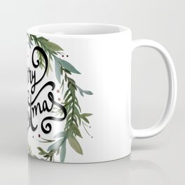 Merry Christmas Wreath Coffee Mug