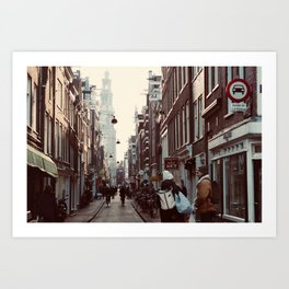 Streets of Amsterdam Art Print