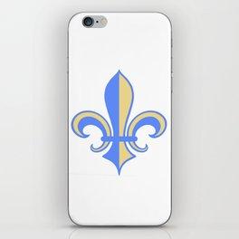 Two Tone Fleur-de-Lis iPhone Skin