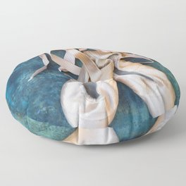 A Pair Of Pointe Shoes Floor Pillow