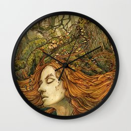 Forest Lady Wall Clock