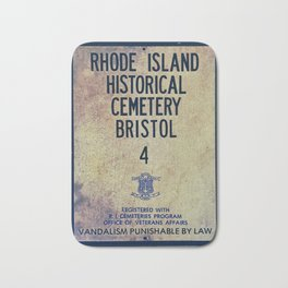 Historical Cemetery Bristol, RI Bath Mat