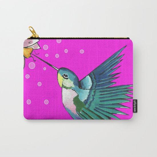 Spirited Hummingbird Carry-All Pouch