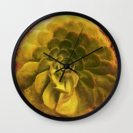 Dusucculent Wall Clock