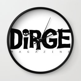 Dirge mens black logo Wall Clock