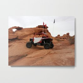 Polaris RZR at Sand Hollow riding area Metal Print