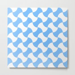 Optical pattern 149 blue Metal Print