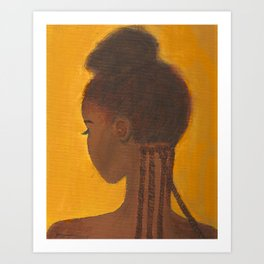 Yellow black girl Art Print