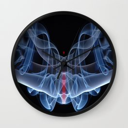 9124s Spirit Work by Chris Maher Visions of Smoke and Mirrors Wall Clock