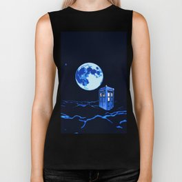 tardis  in the sky Biker Tank