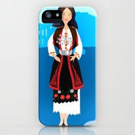 Greek folk dress  iPhone Case