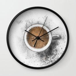 Coffee Heartbeat Wall Clock