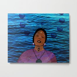 The Water Carries Her, She Carries the Water Metal Print