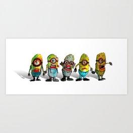 zombie minons Art Print