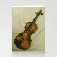 violin Stationery Cards featuring Violin by Camille Anastasia
