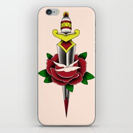 Rose and Dagger iPhone Skin