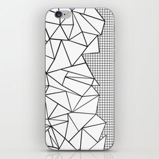 Abstraction Outline Grid on Side White iPhone & iPod Skin