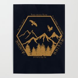 Two ravens flew Poster