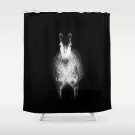 Horse in the dark Shower Curtain