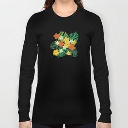 Limahuli Garden Hawaiian Floral Design Long Sleeve T-shirt