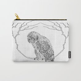 Owl In Tree (Print) Carry-All Pouch