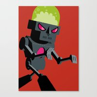 robot Canvas Prints featuring Robot by Marco Recuero