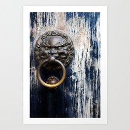Chinese Lion Door Knocker Art Print