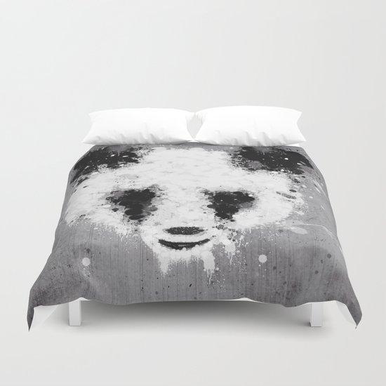 panda paint Duvet Cover