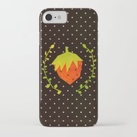 strawberry iPhone & iPod Cases featuring Strawberry by Strawberringo