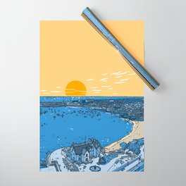 Cascais Bay-Portugal-Beach-Sunset-Landscape Wrapping Paper