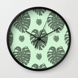 Monstera silhouette Wall Clock