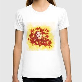 Lucid Bliss (red) - Original Sketch to Digital T-shirt