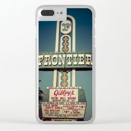 Frontier Hotel Sign, Las Vegas Clear iPhone Case