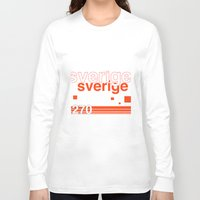sweden Long Sleeve T-shirts featuring Sweden stamp  by Little Parcels Shop