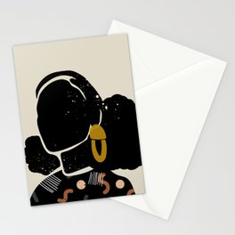 Black Hair No. 4 Stationery Cards