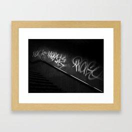Street Graffiti in Black and White Framed Art Print