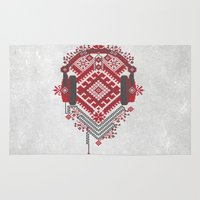 ethnic Area & Throw Rugs featuring Ethnic by sophtunes