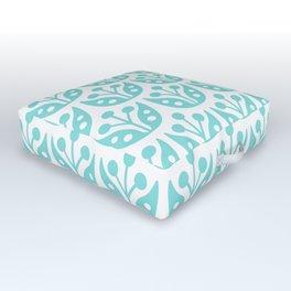 Mid Century Modern Flower Pattern 731 Turquoise Outdoor Floor Cushion