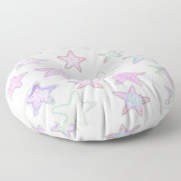 Funky Pastel Stars! Floor Pillow