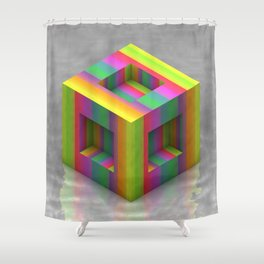 Shift Cubed Shower Curtain