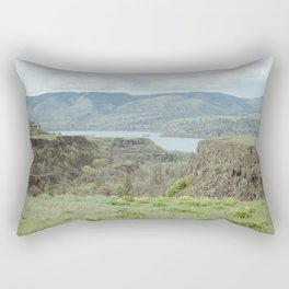 Tom McCall Preserve Looking Out at The Columbia River Gorge Rectangular Pillow