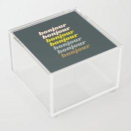 Bonjour in Pretty Pastels Acrylic Box