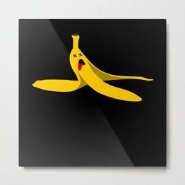 Banana Empty Banana Peel Sarcasm Metal Print