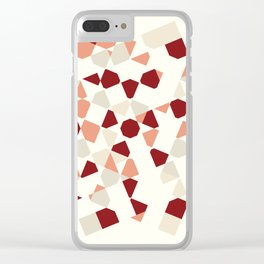 Abstract Human Clear iPhone Case